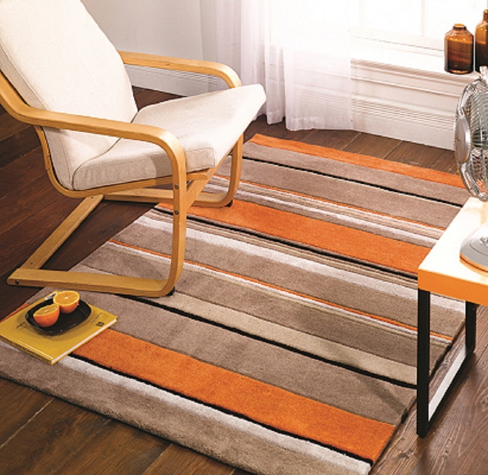 Torcido Striped Orange Rug.jpeg