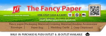 The Fancy Paper, paper supplier in Malaysia, craft paper paling murah dan berkuality di Malaysia, cheapest with high quality