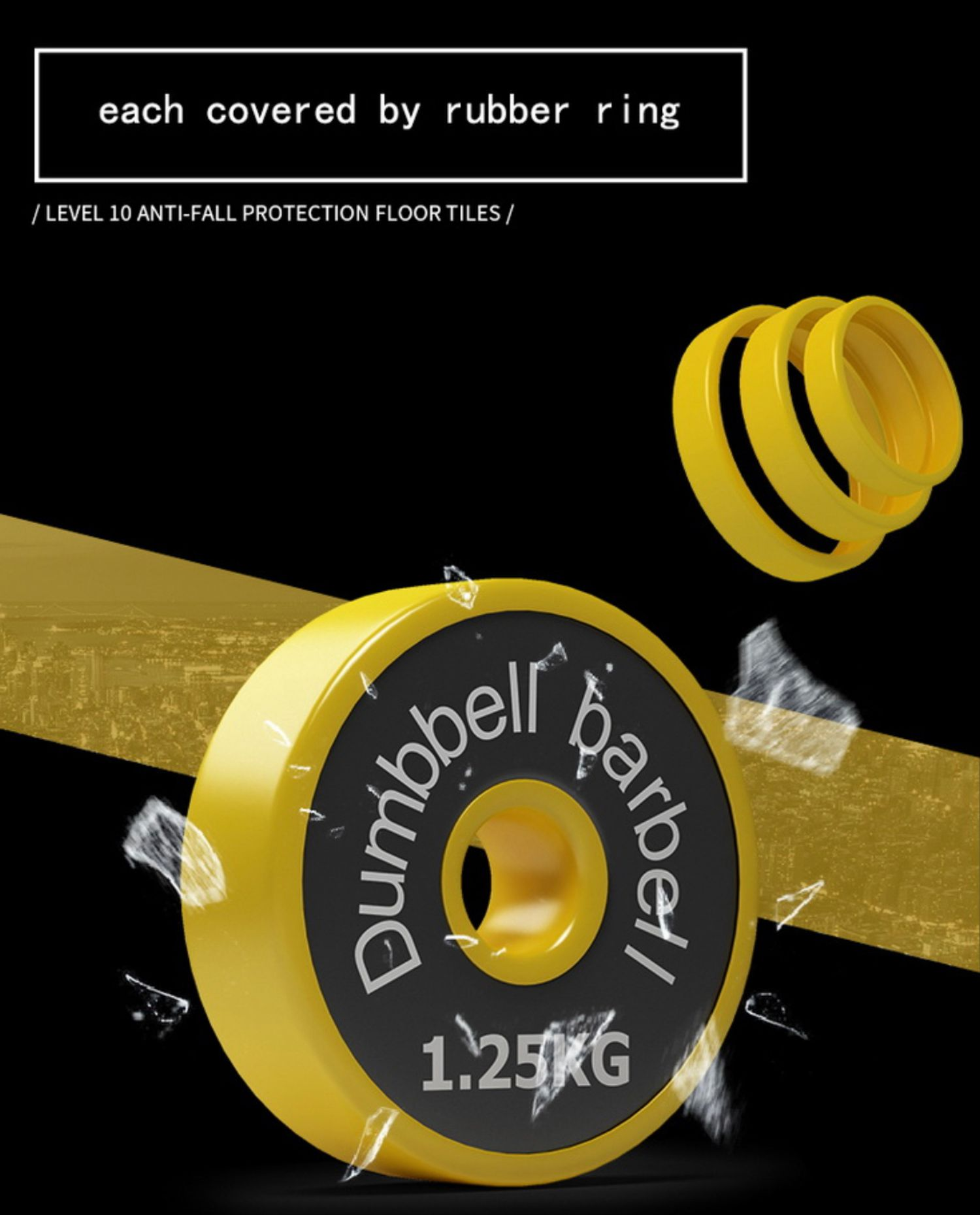 GS- Gymspecialist   ANTI FALL PROTECTION DUMBBELL