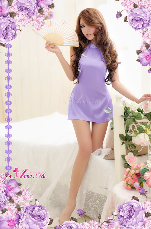 T584 - Purple the sensation two-piece sexy chinese costume