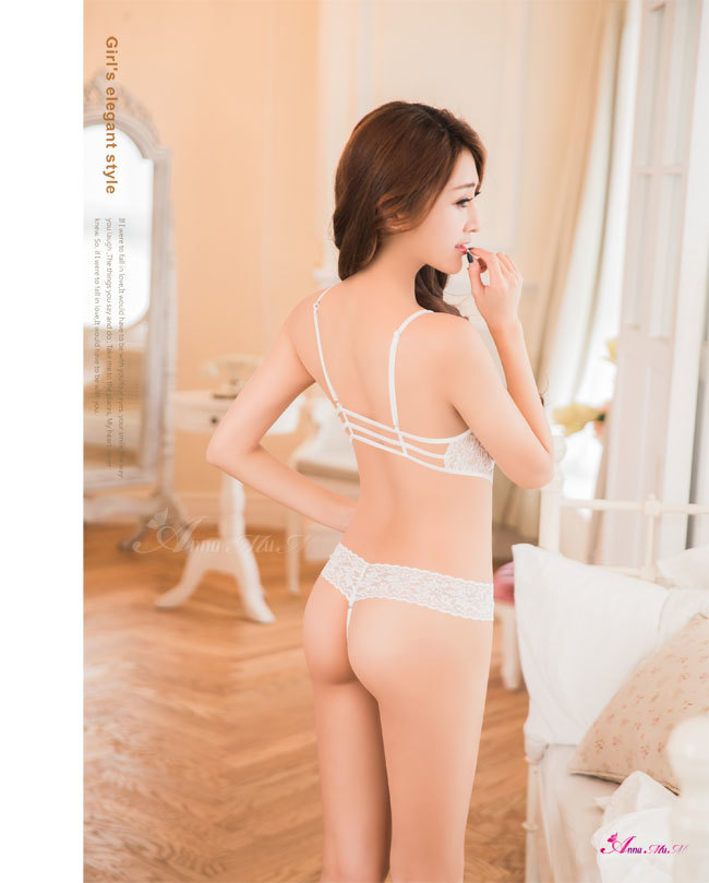 T731 - Sexy love!Fantasy and sweet Pure white lace Teddy