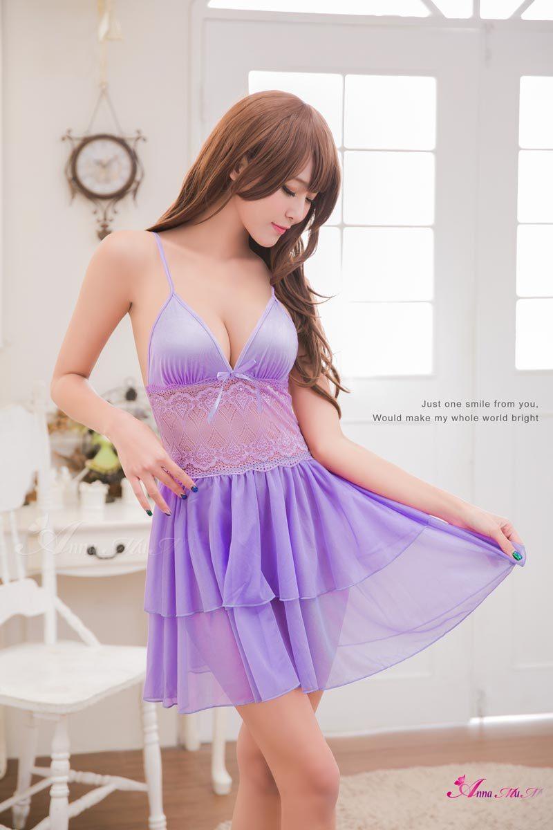 T714 - Elegant Lover!! Romantic Dream Satin Sleepwear