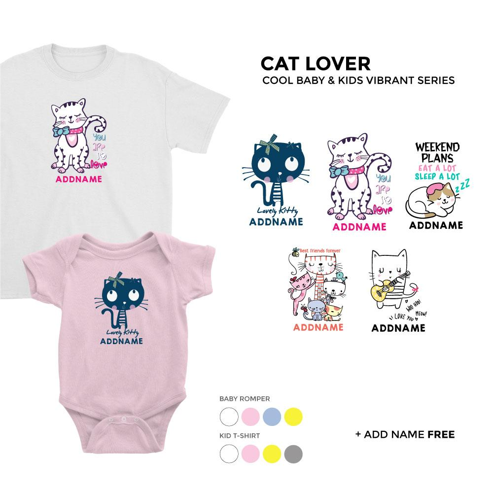 Cat Lover Cool Baby and Kids Vibrant Series