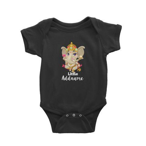Artistic Ganesha Little Addname Baby Romper black.jpg