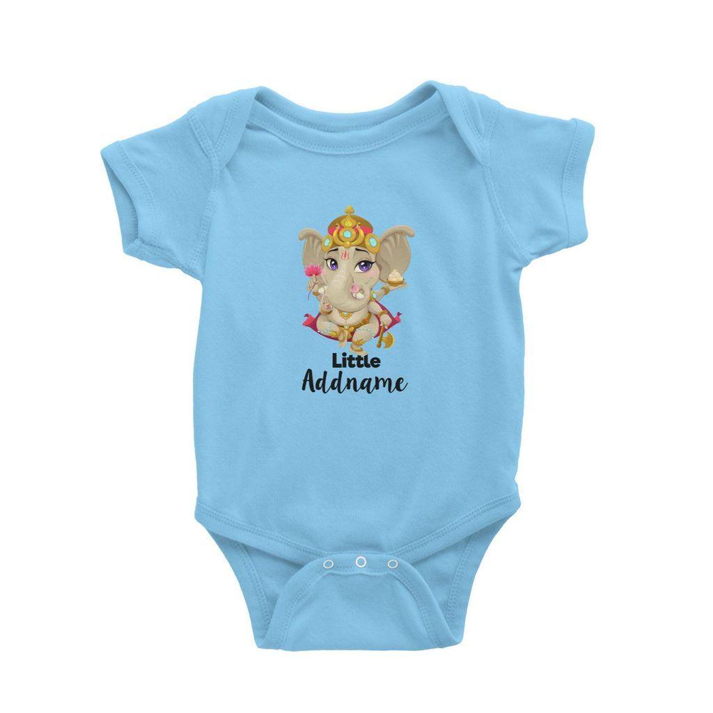 Artistic Ganesha Little Addname Baby Romper Light Blue.jpg