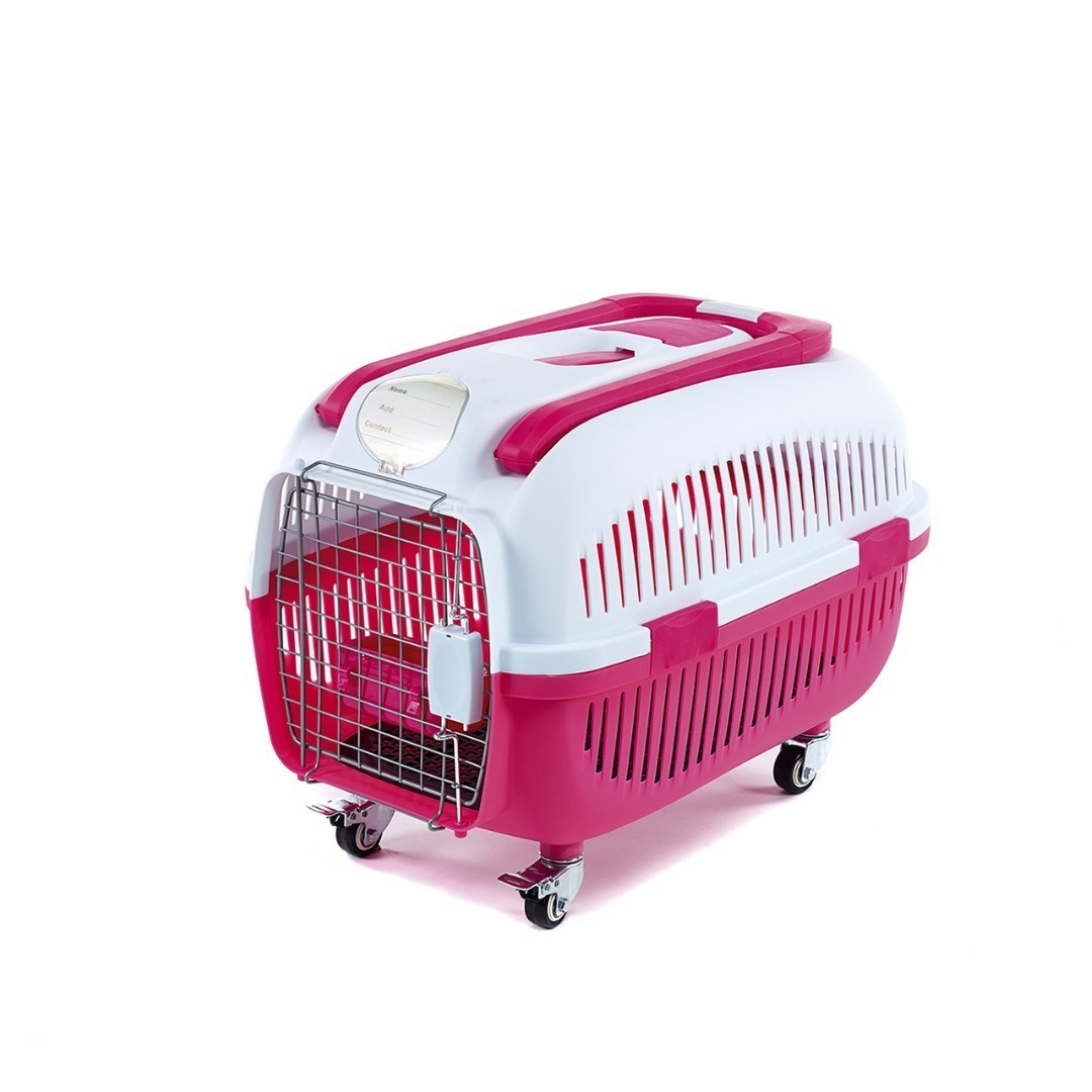 Pet Carrier With Handle & Wheel