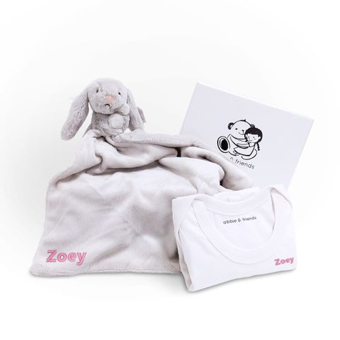 Bashful Silver Bunny Soother, White.jpg