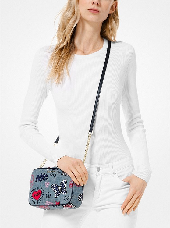 281650cce ... MICHAEL-Michael-Kors-Ginny-Medium-Embroidered-Denim-Crossbody-;  32S9TF5C2C-0860_4.jpeg