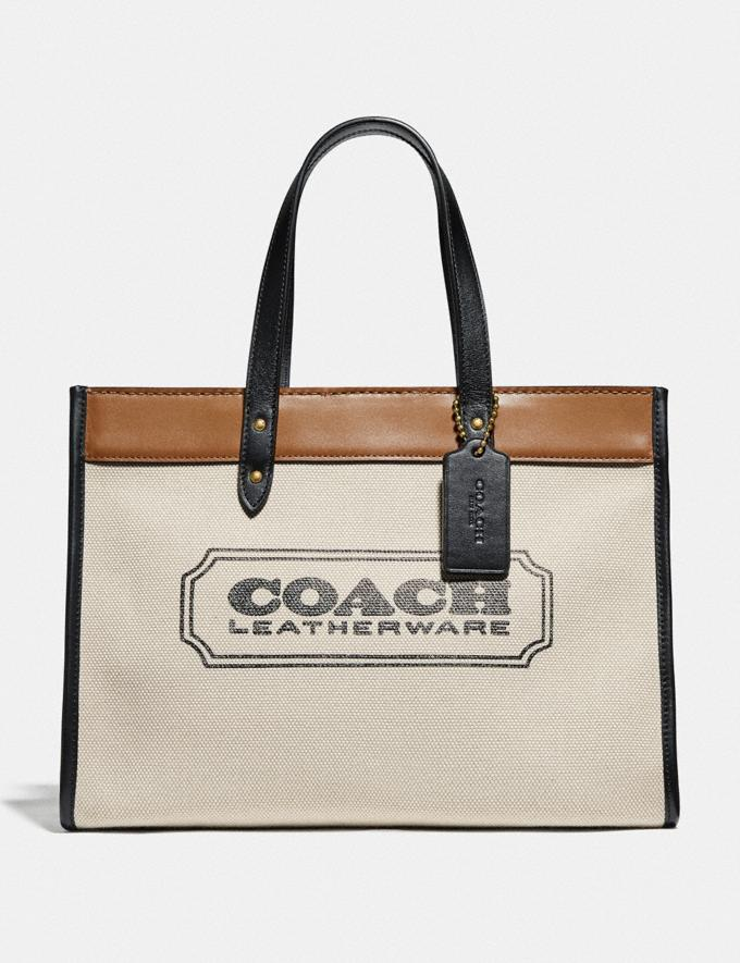 Coach Field Tote 30 With Coach Badge 89488