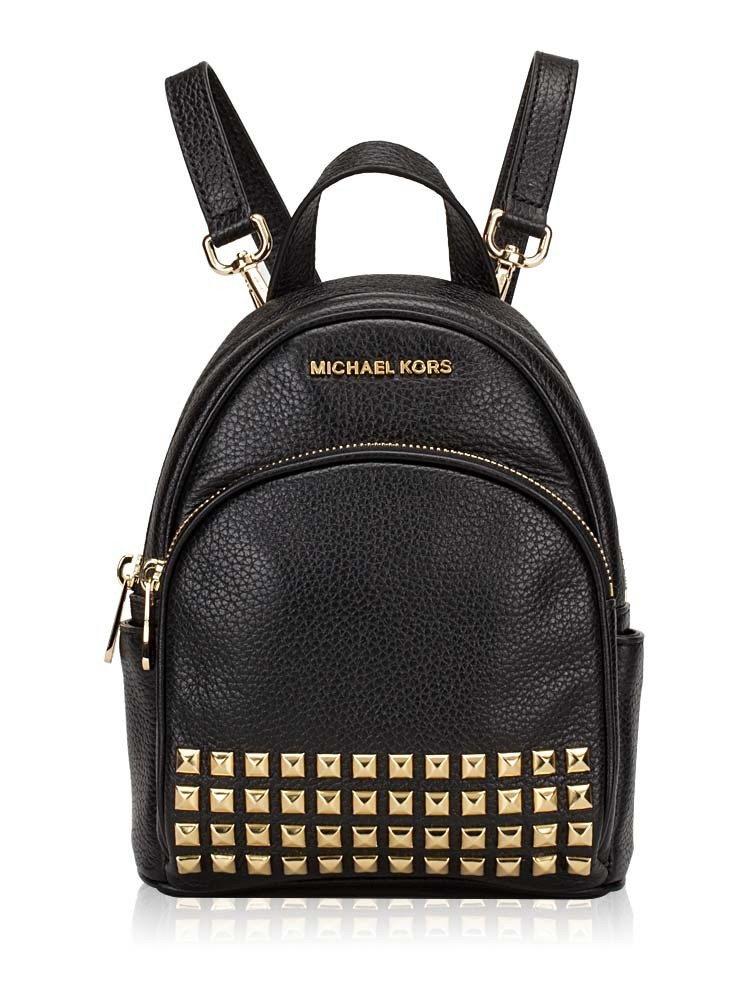 82f7f169df18 ... reduced michael kors abbey studded leather zip extra small backpack  673a6 fe9cd