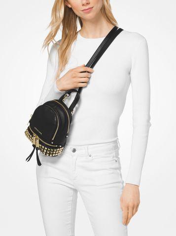 3c748faae4931b Michael Kors Rhea Mini Studded Leather Backpack – Luxe Paradise