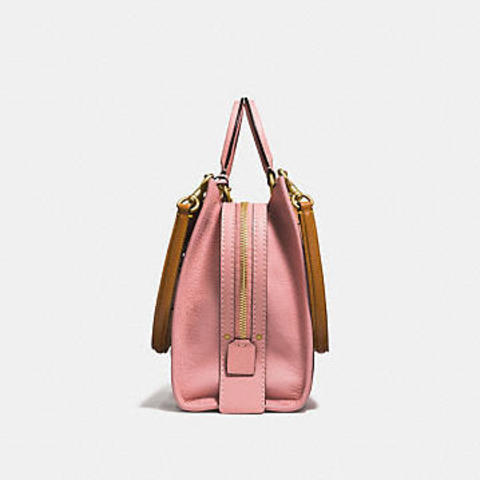 926288449d Coach Rogue with Snakeskin Tea Rose Rivets 26890 – Luxe Paradise