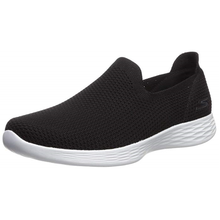 san francisco authorized site wholesale sales Skechers Women's YOU Define Sneakers (Wide Fit - Black/White)