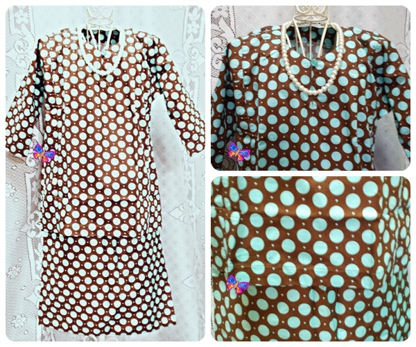 Baju Kurung Kanak-kanak English Cotton Brown Polkadot Light Blue.jpg