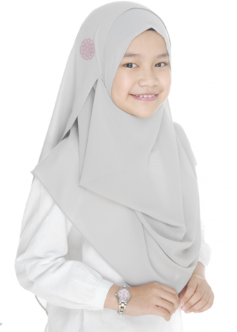 Double Loop Instant Shawl Chiffon Light Grey.png