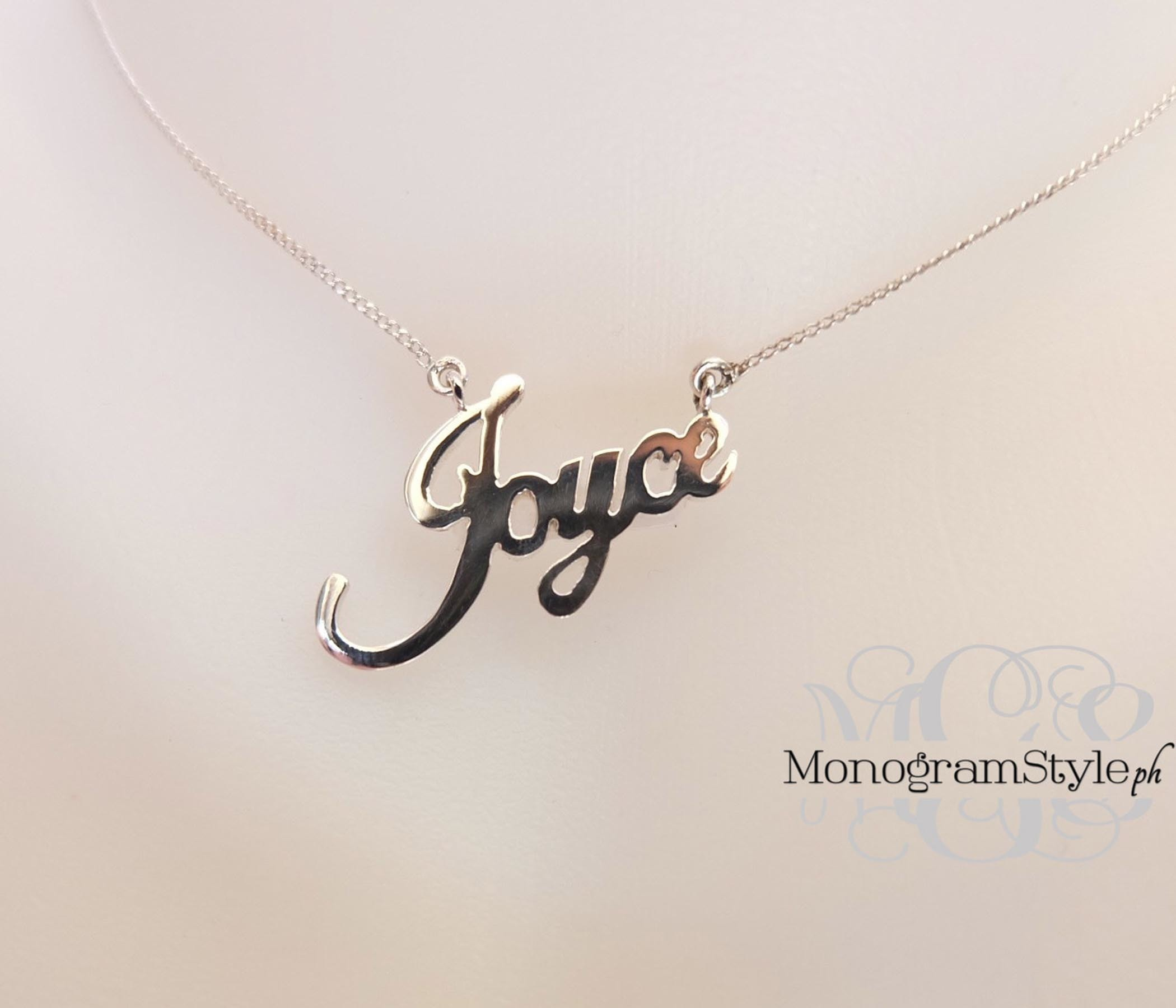 handwriting necklace signature lou name products image of anna jewellery london
