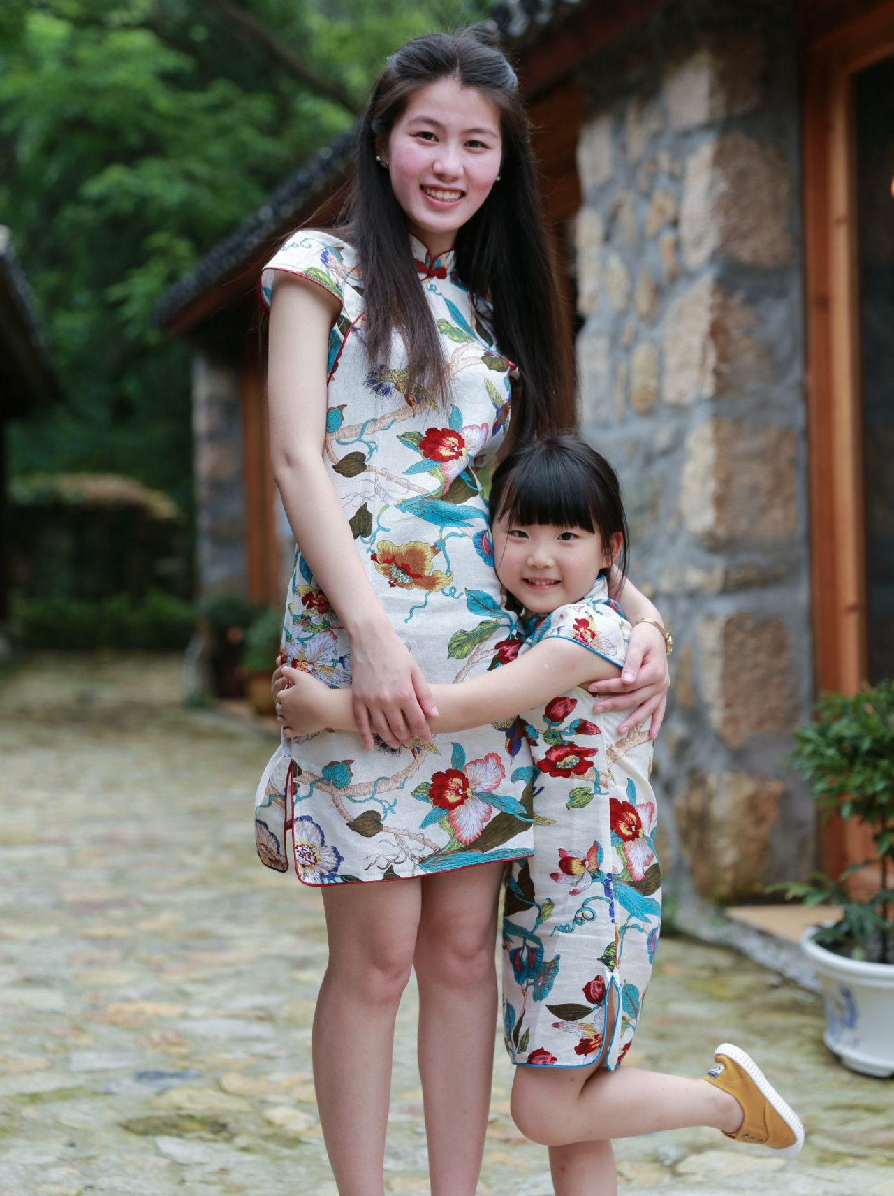 OOTD2255 MOM DAUGHTER MATCHING CHEONGSAM – OOTD MALAYSIA