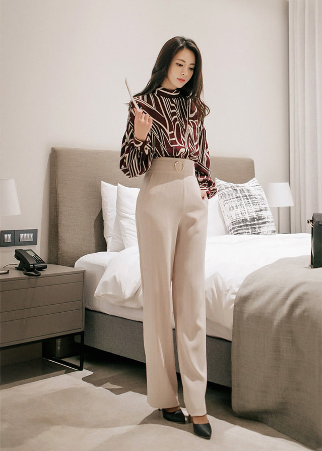 55d6f0d88293d4 OOTD4830 GEOMETRY BLOUSE AND PANTS – OOTD MALAYSIA