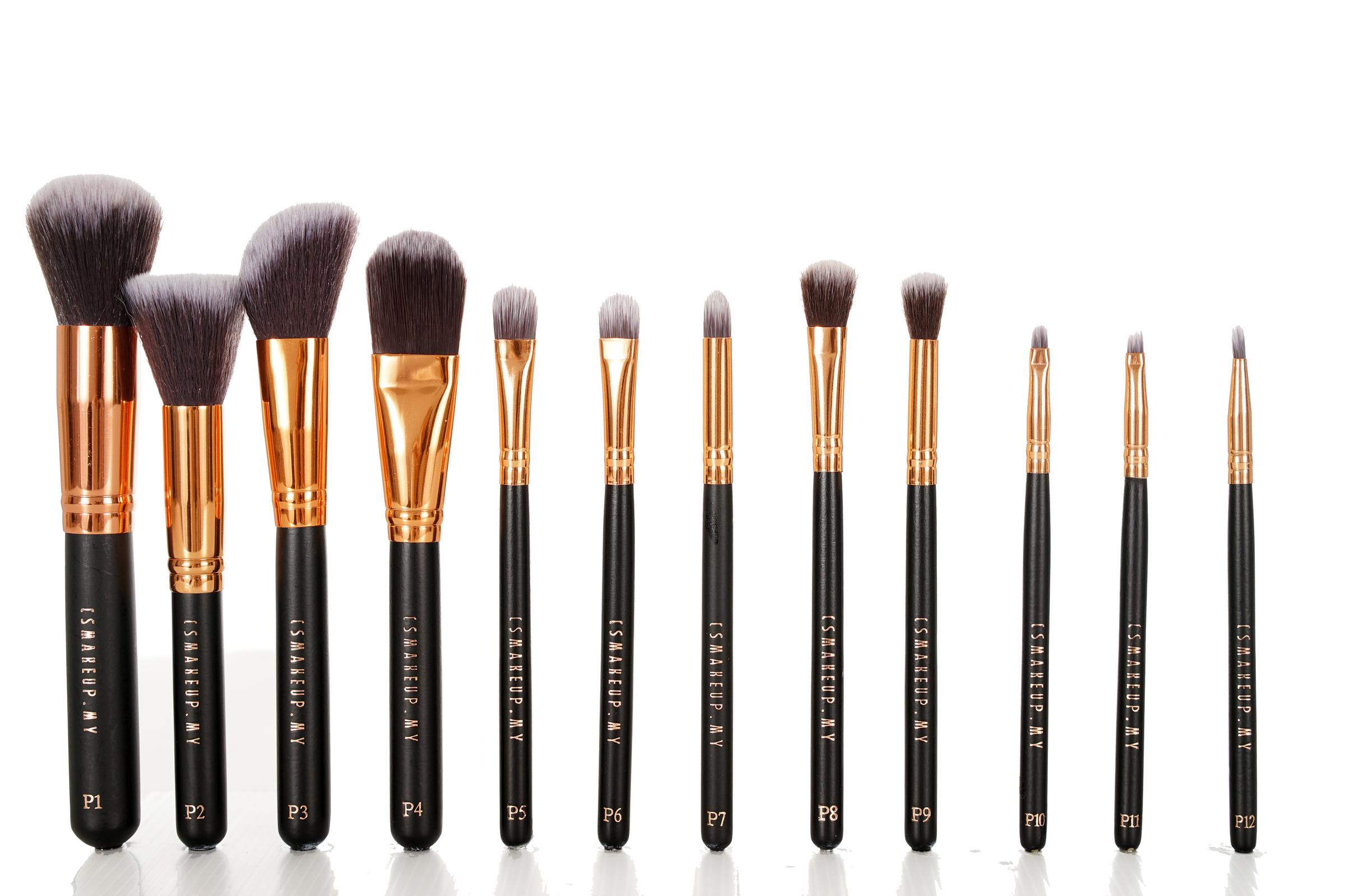 12pcs Medium Brush Set – CSMAKEUP MY