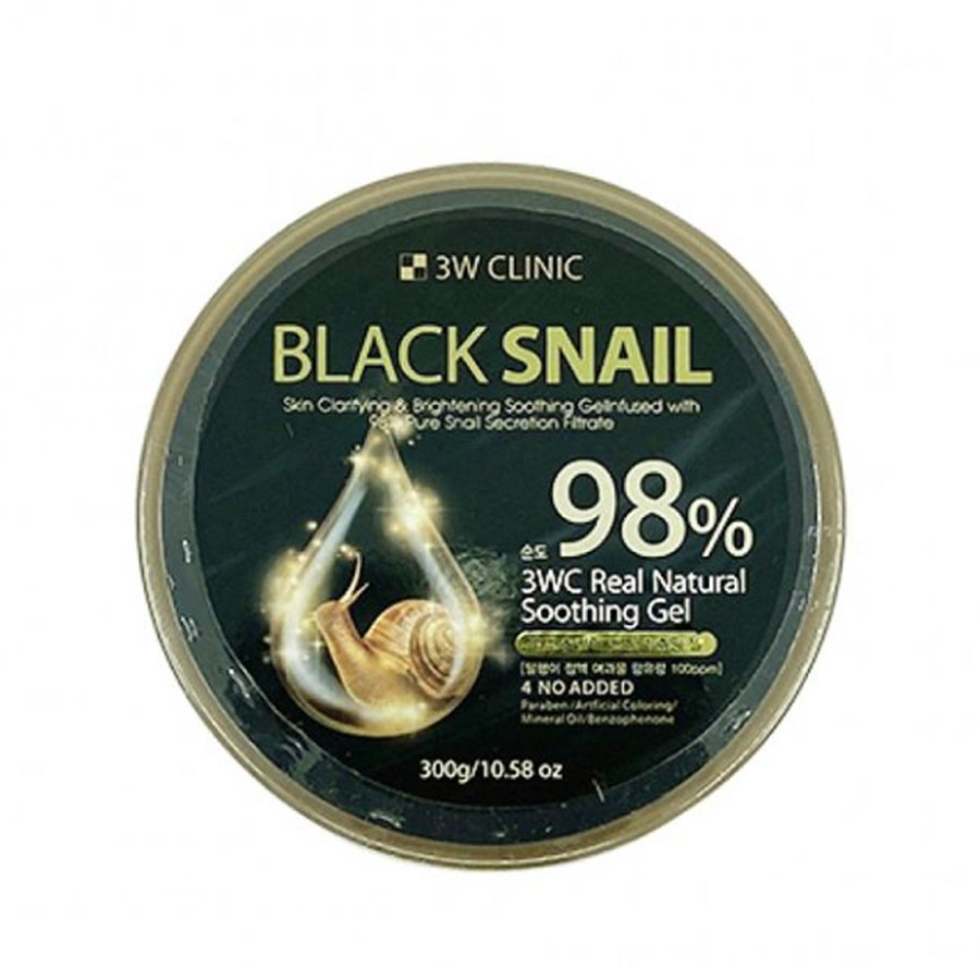 3W CLINIC 98% Black Snail Soothing Gel 300g
