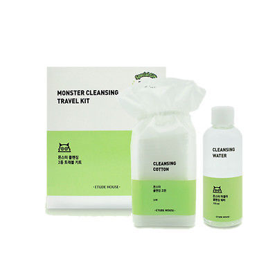 [PRE ORDER] ETUDE HOUSE Monster Cleansing Travel Kit / Cleansing Water 100ml + Cleansing Cotton 30ea