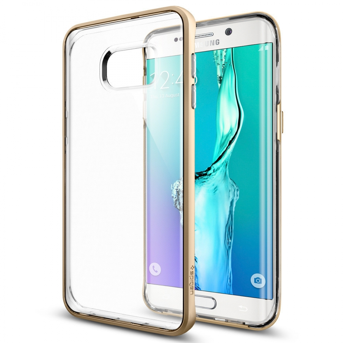 competitive price 59084 f4684 SPIGEN Galaxy S6 Edge+ Neo Hybrid Crystal Champagne Gold Case