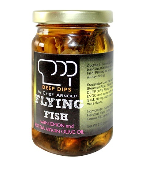 deep dips flying fish with lemon and extra virgin olive oil.jpg
