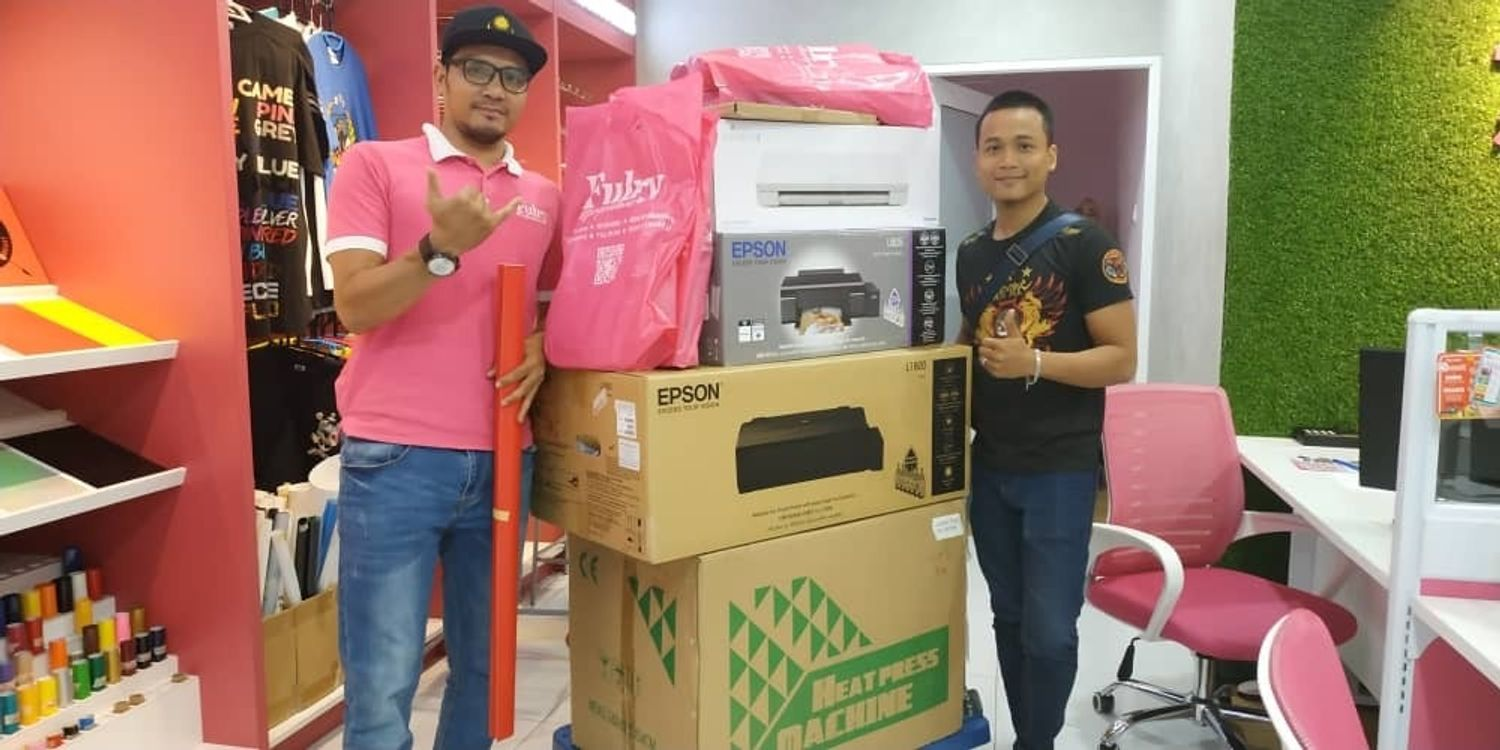 Heat Press Machine | Printing Materials Supplier Malaysia : Fulry - Heat Press 10 in 1 Business Package