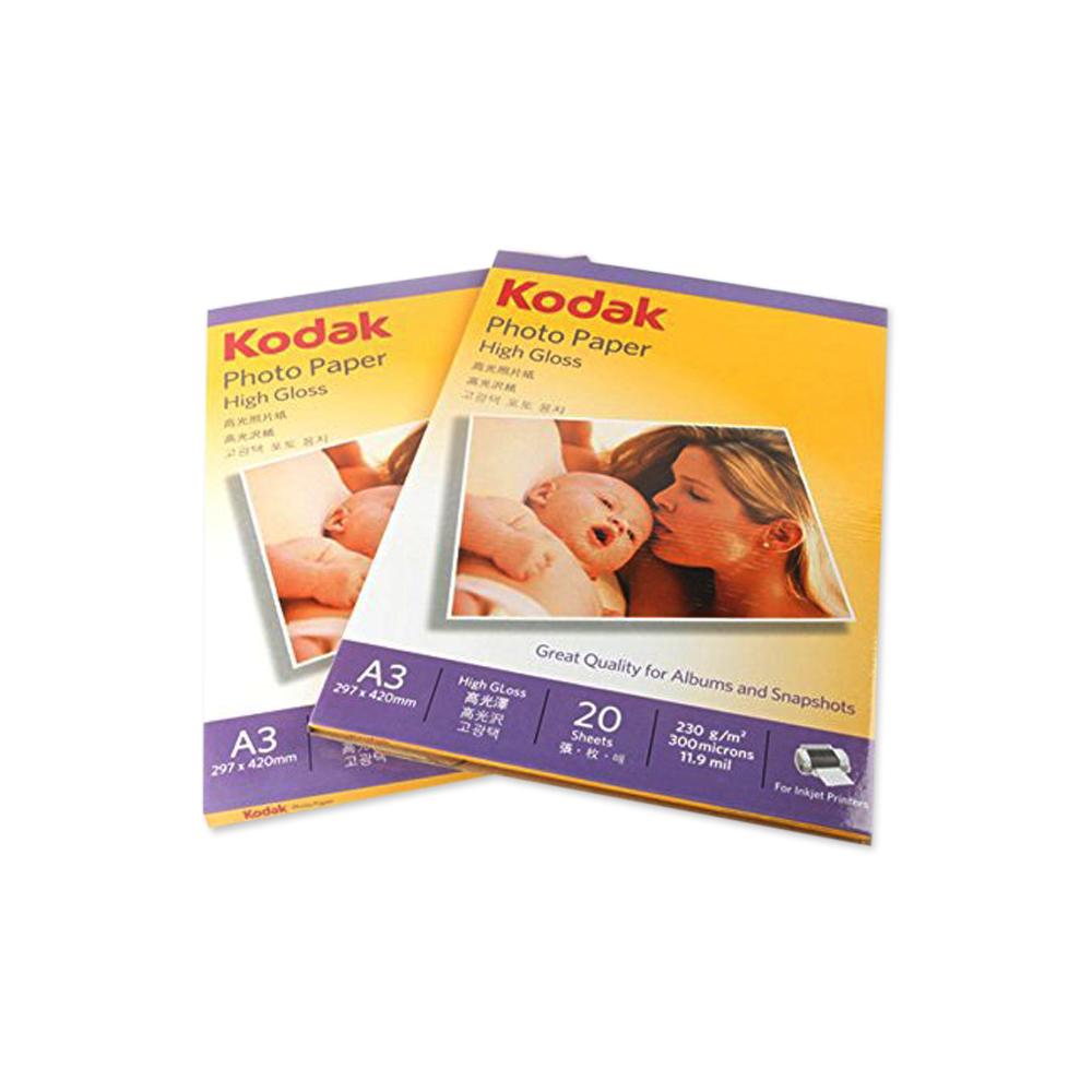 Kodak Inkjet High Gloss Photo Paper 230gsm 4r A4 Amp A3