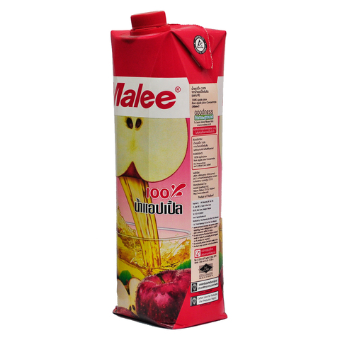 Malee 100percent Apple Juice 1000ml Thai Side.jpg