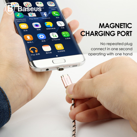 Baseus Magnetic Cable-Micro USB rose gold 2.jpg
