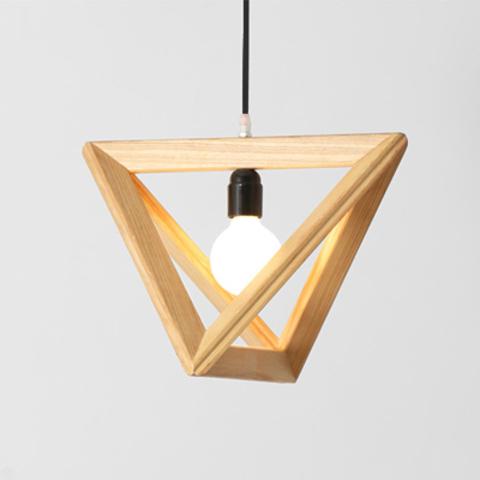 lighting wood. Triangle Design Wood Pendant Light-10.jpg Lighting