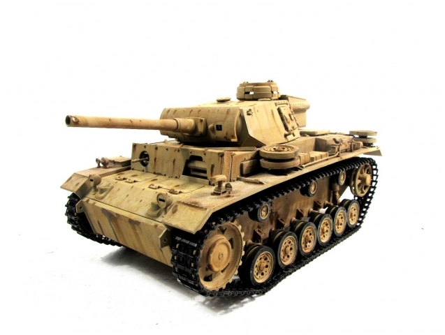 mato panzer iii rc tank 1 16th scale desert yellow. Black Bedroom Furniture Sets. Home Design Ideas