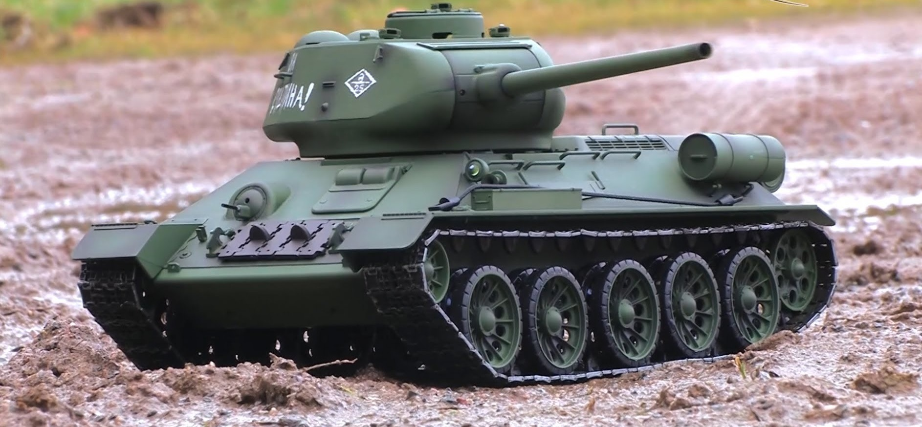 Heng Long T-34/85 RC Tank 2 4ghz 1/16th Scale