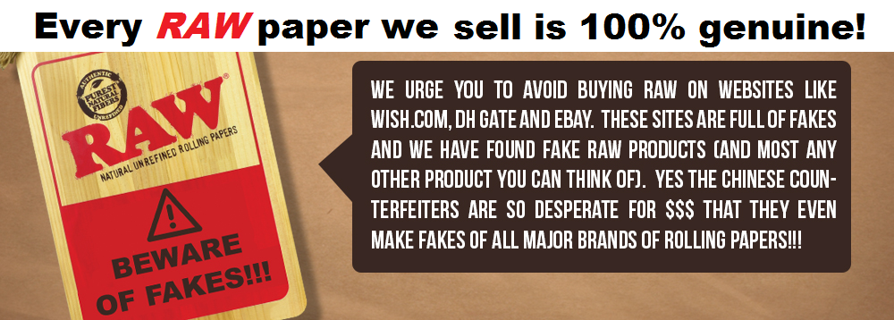 We only sell 100% genuine RAW paper