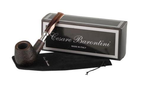 Pipe Cesare Barontini Duke black rustic acrylic mouthpiece 1  (440122).jpg