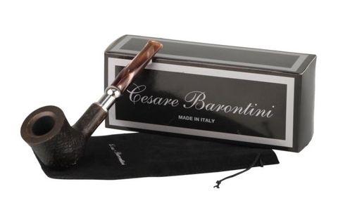 Pipe Cesare Barontini Duke black rustic acrylic mouthpiece 1 (440123).jpg