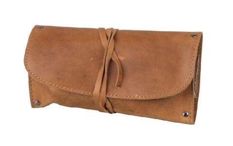 Pipe starter set leather brown antique straight pipe ebonite 1 (409511).jpg