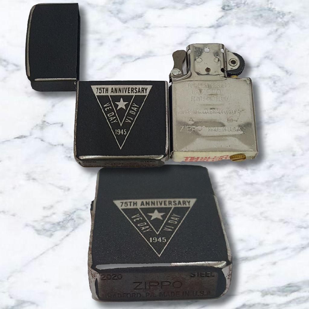 Zippo Lighter Crackle Steell 1941 -75th Ve-Day 1945-60005524-1.jpg