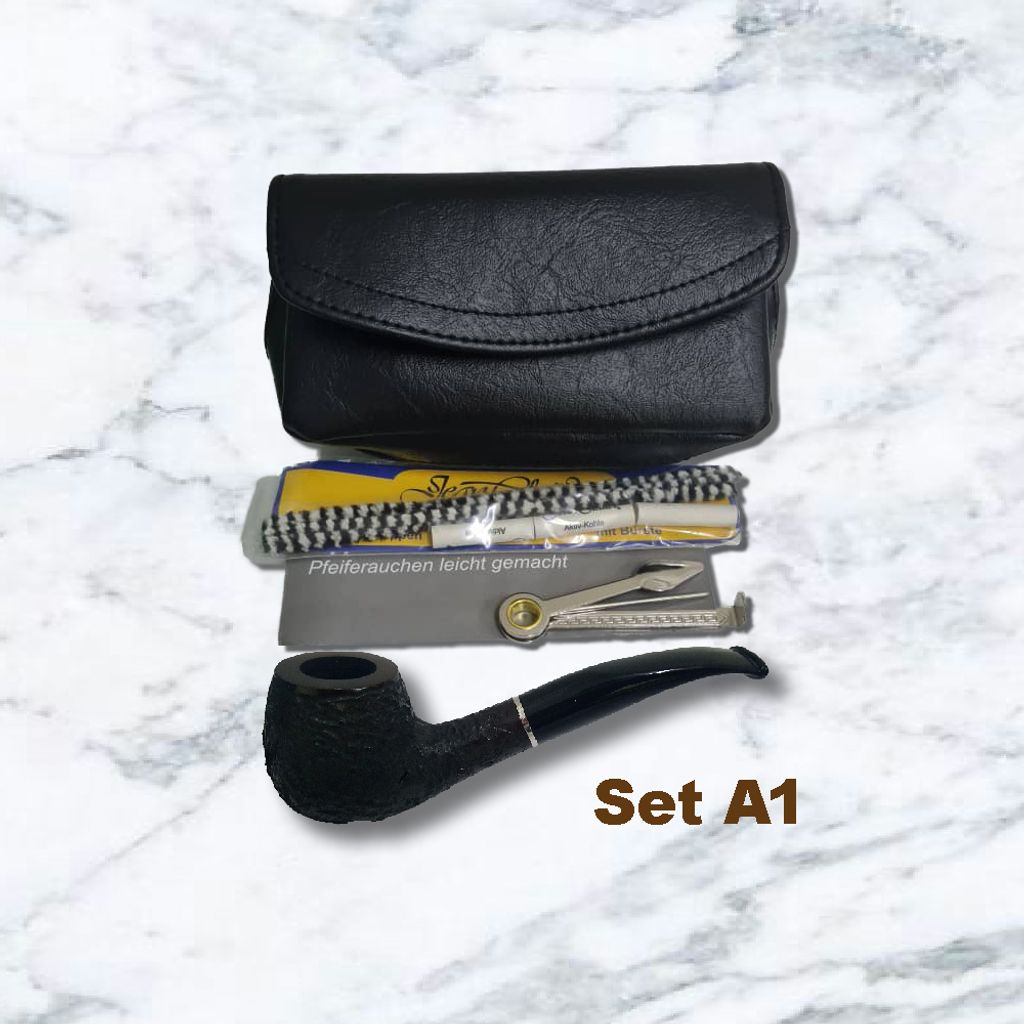 Pipe Starter Set Leatherette Pipe Sand with Acrylic Mouthpiece-0A1.jpg