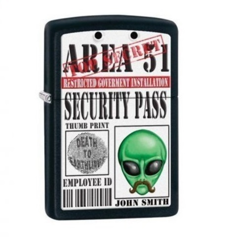 Zippo Area 51 Security Pass Alien Identity 2.jpg