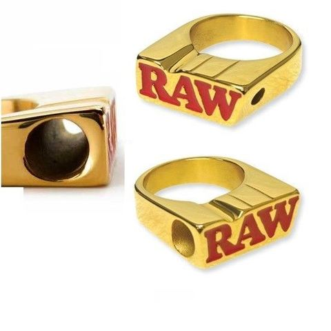 Raw 24k Gold Plated Smoker Ring Cigarette Holder Limited