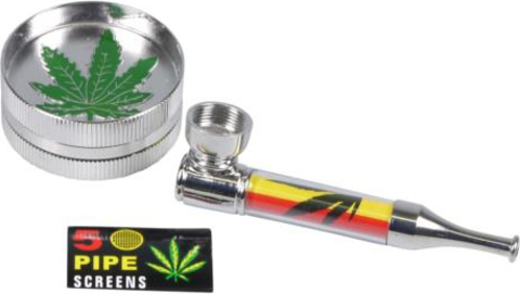 Set tobacco pipe metal +Grinder +Screen (447231)#2.jpg