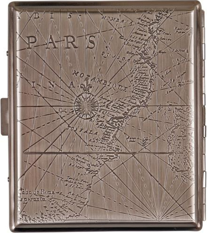 Cigarette case metal compass chrome antique in single box with metal bars(602621)#2.jpg