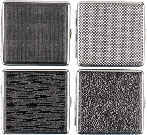 Cigtt.case leatherette chrome frame black,glitter assorted for 20 cig(606631)#1.jpg