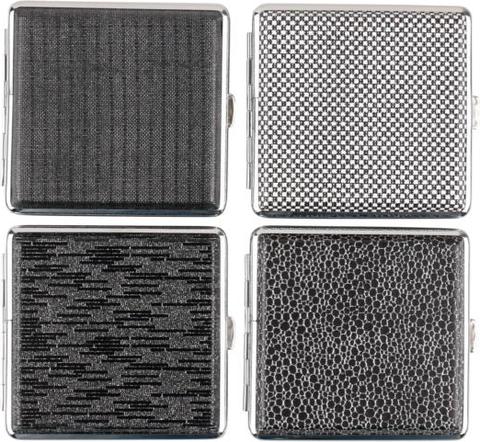 Cigtt.case leatherette chrome frame black,glitter assorted for 20 cig(606631)#1.jpg