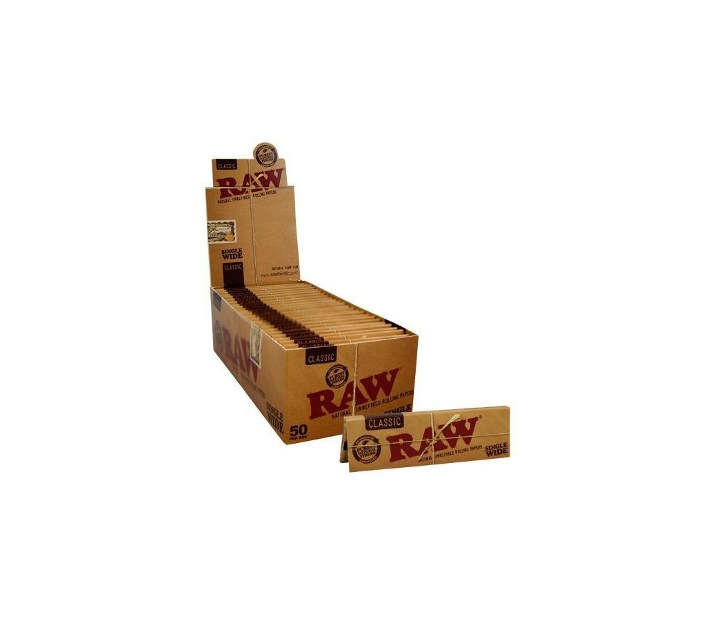 RAW CLASSIC SINGLE WIDE PAPER 50 LEAVES BOX-50.jpg