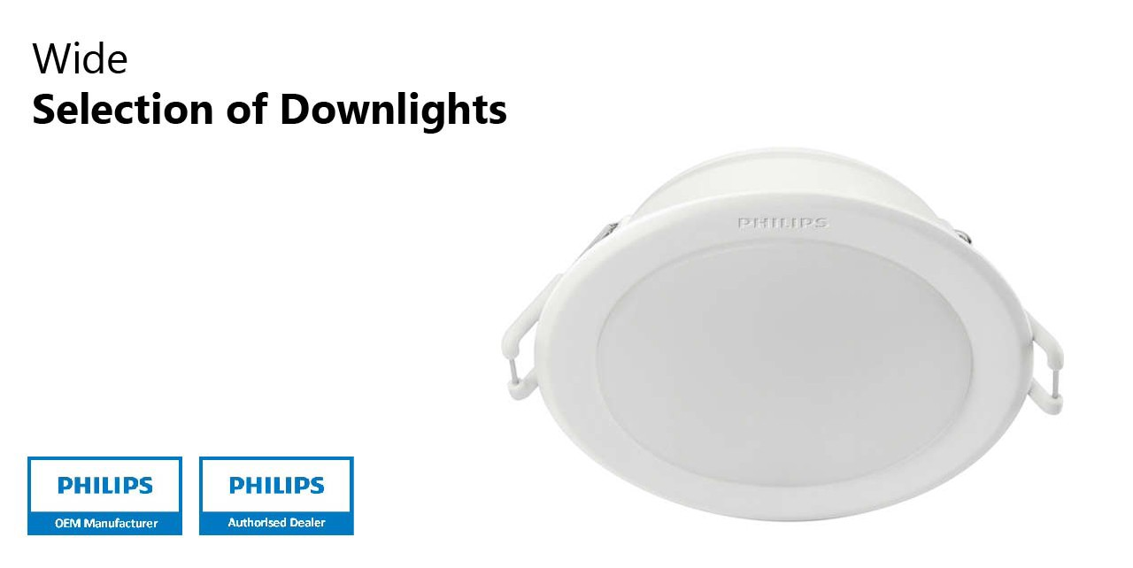 Philips LED Downlights Energy Saving