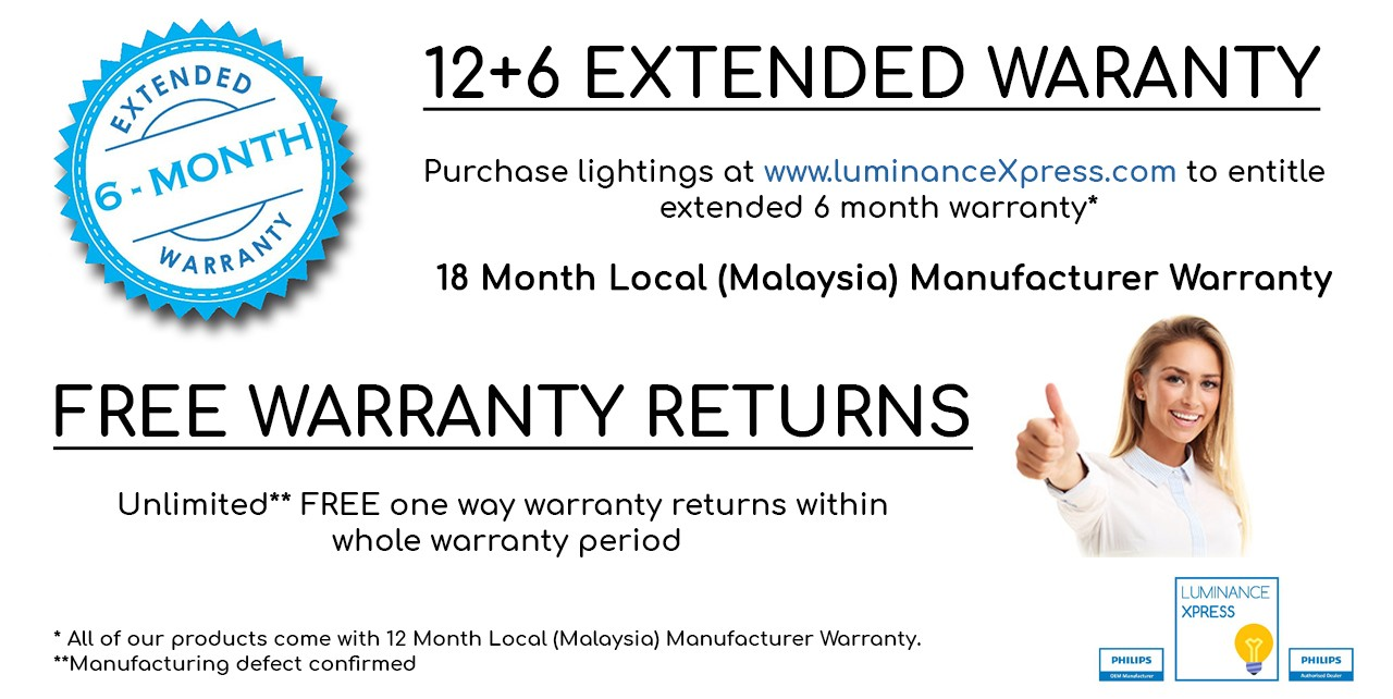 LuminanceXpress - Convenient! Extended Warranty 18 Month Local (Malaysia) Manufacturer Warranty FREE Returns T&C