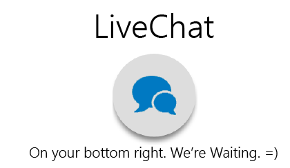 Live Chat, We Are Waiting